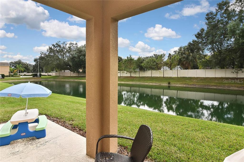 View of pond - Townhouse for sale at 10713 Avery Park Dr, Riverview, FL 33578 - MLS Number is N6107928