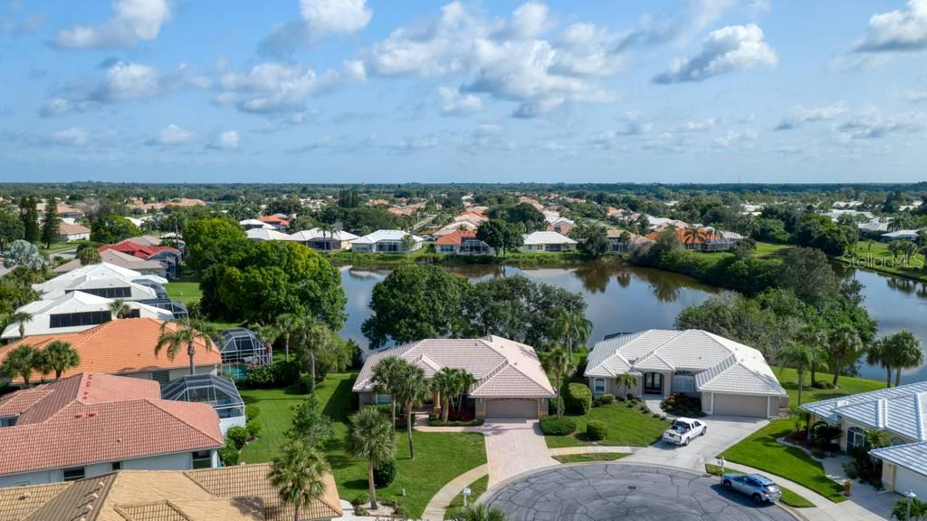 Aerial - Single Family Home for sale at 498 Pine Lily Way, Venice, FL 34293 - MLS Number is N6110849