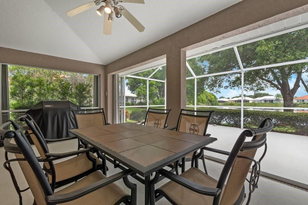 Covered lanai - Single Family Home for sale at 498 Pine Lily Way, Venice, FL 34293 - MLS Number is N6110849
