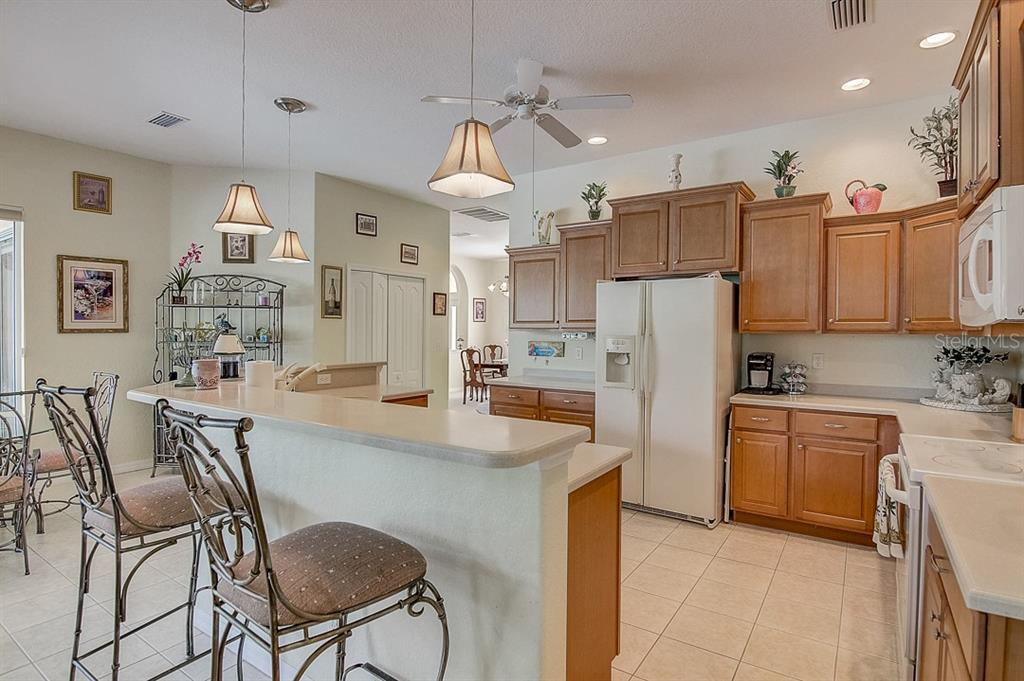 Breakfast bar, kitchen - Single Family Home for sale at 1031 Scherer Way, Osprey, FL 34229 - MLS Number is N6111839