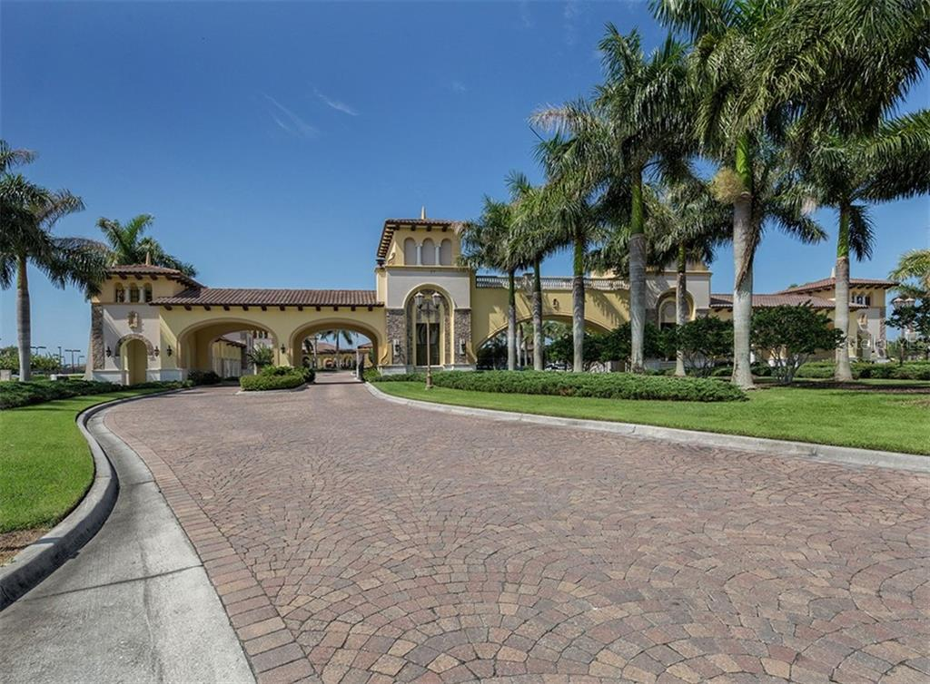 Gran Paradiso Entrance Gates - Condo for sale at 20120 Ragazza Cir #201, Venice, FL 34293 - MLS Number is N6112061