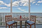 View of the Gulf from the lanai - Condo for sale at 333 The Esplanade N #402, Venice, FL 34285 - MLS Number is N5914981
