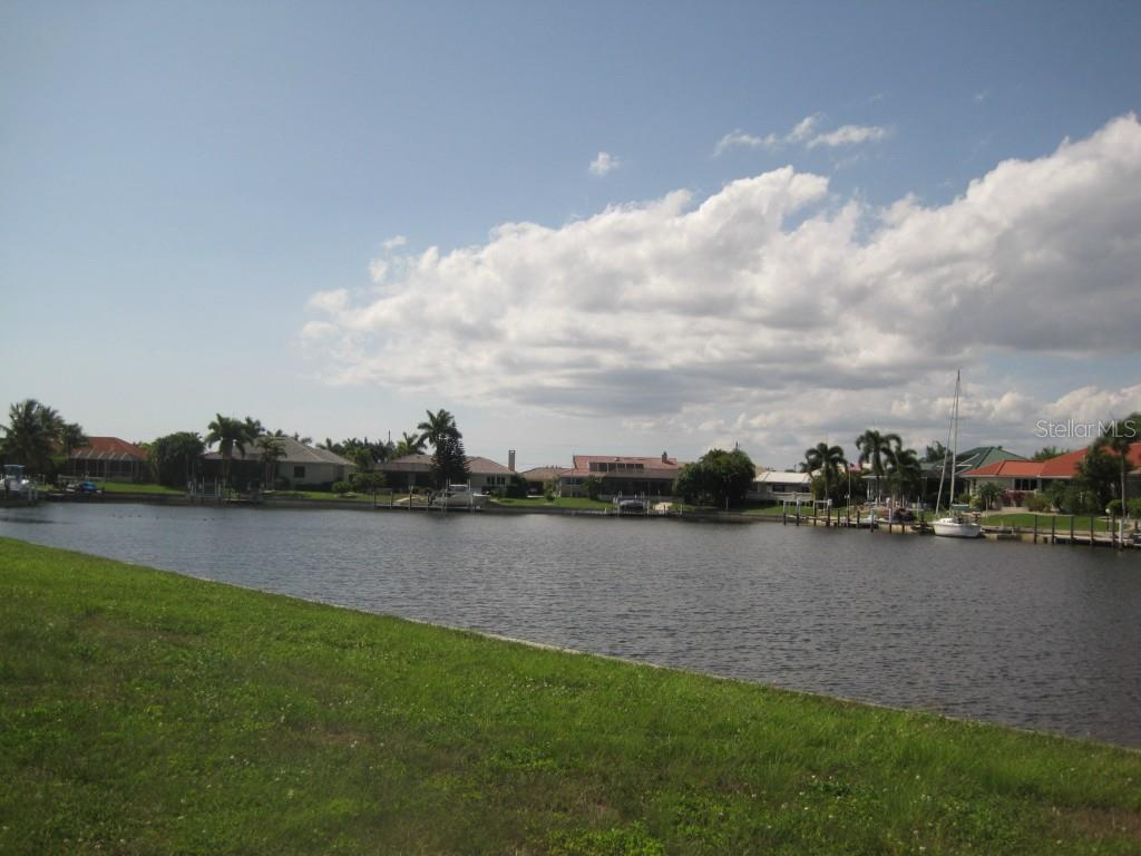 View to left of basin to the northwest - Vacant Land for sale at 5006 Palermo Dr, Punta Gorda, FL 33950 - MLS Number is C7210721
