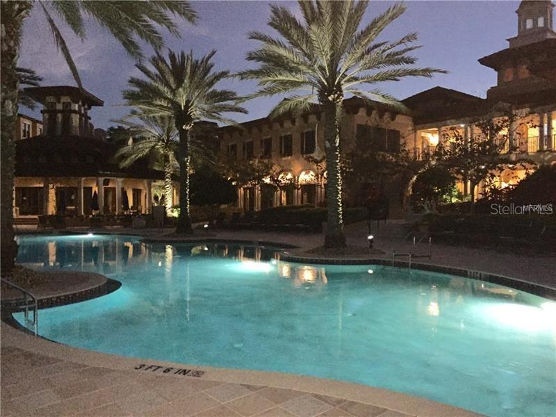 Vivantes pool night life! - Condo for sale at 98 Vivante Blvd #9828, Punta Gorda, FL 33950 - MLS Number is C7242665