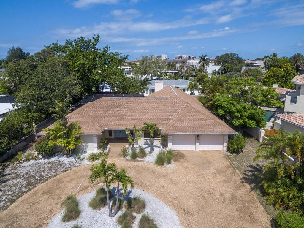 Aerial view - Single Family Home for sale at 1173 Morningside Pl, Sarasota, FL 34236 - MLS Number is A4401654
