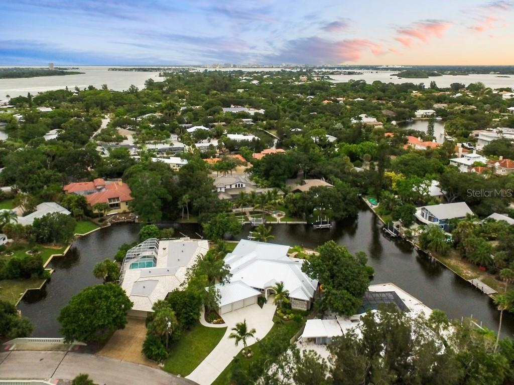Aerial Front - Single Family Home for sale at 4847 Primrose Path, Sarasota, FL 34242 - MLS Number is A4415116