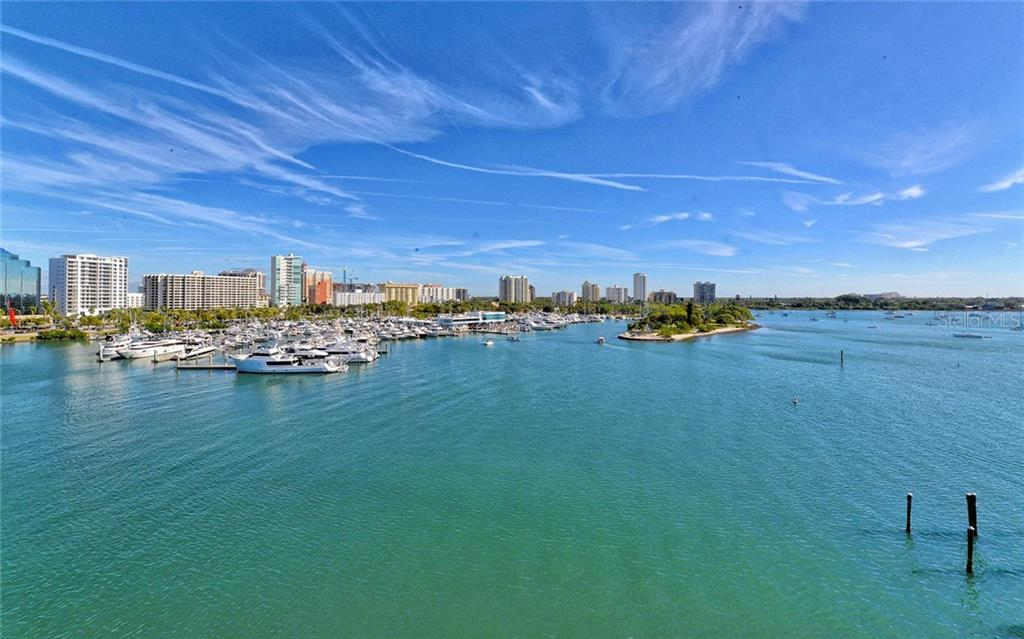 View from the Main Living Area. - Condo for sale at 464 Golden Gate Pt #701, Sarasota, FL 34236 - MLS Number is A4422622