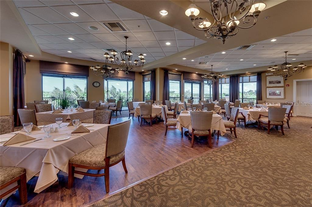 The River Club Dining Room. - Condo for sale at 9453 Discovery Ter #201c, Bradenton, FL 34212 - MLS Number is A4423314