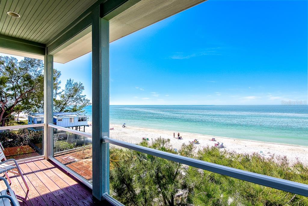 West Balcony off Living Room - Duplex/Triplex for sale at 2500 Gulf Dr N, Bradenton Beach, FL 34217 - MLS Number is A4424506