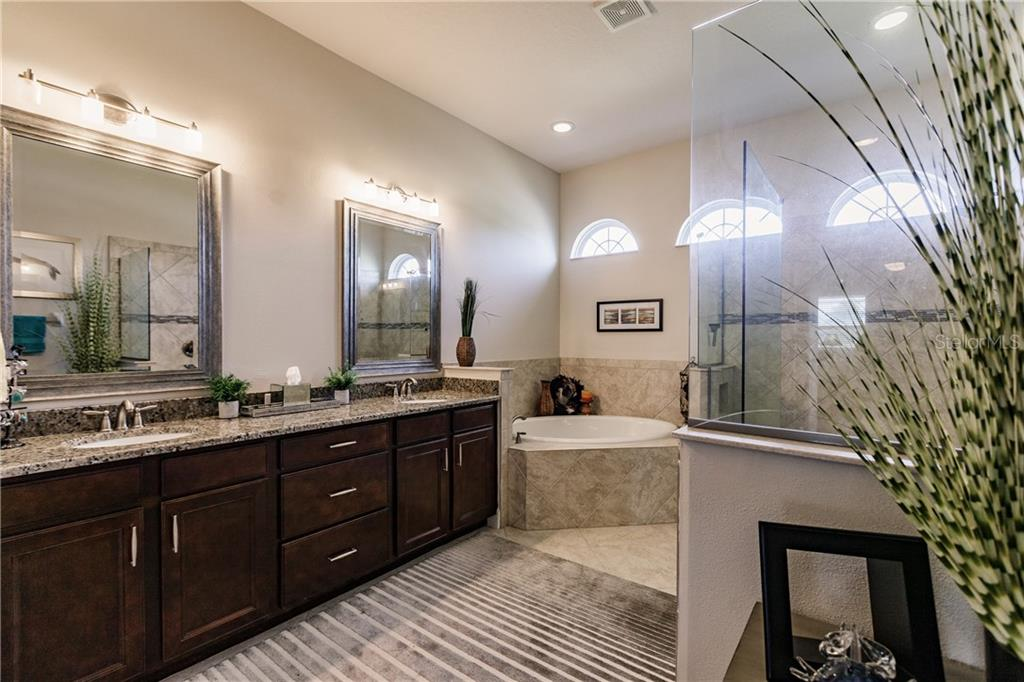 Master bathroom is lovely. - Single Family Home for sale at 17006 1st Dr E, Bradenton, FL 34212 - MLS Number is A4432830