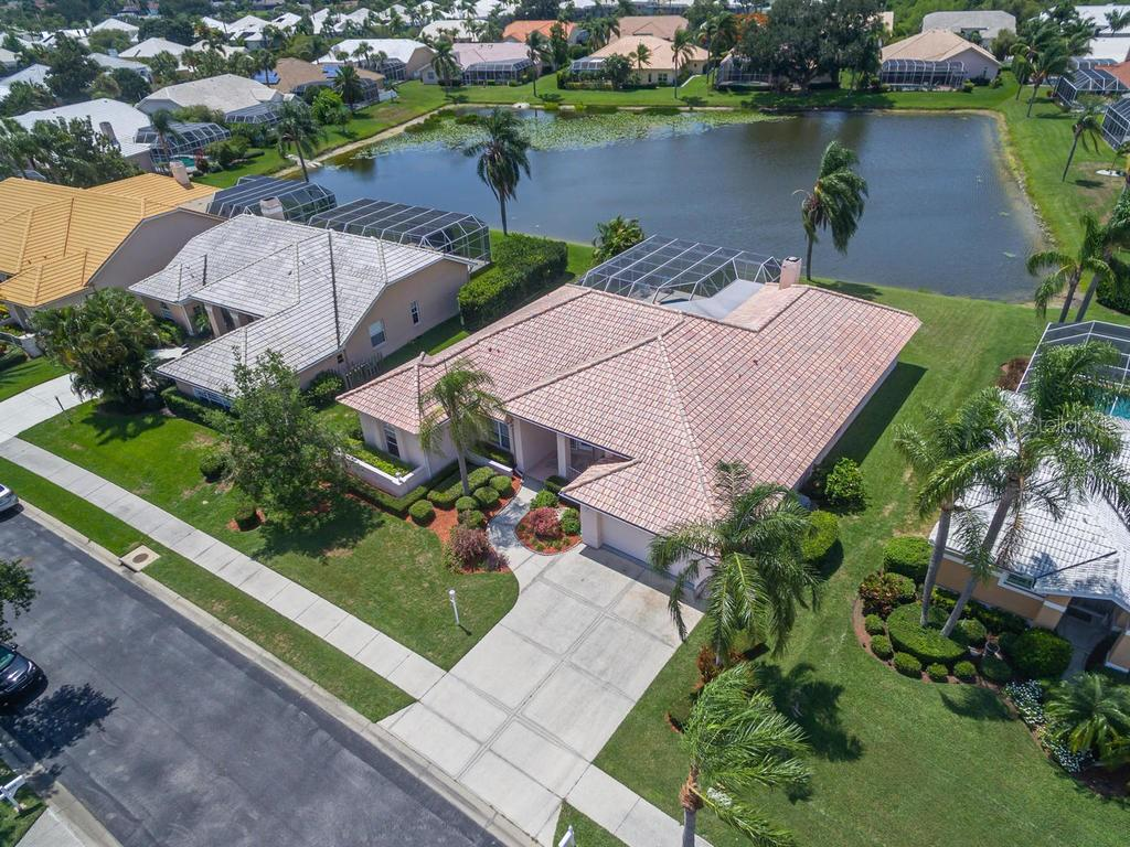 Bird's eye view of your new home! - Single Family Home for sale at 4117 Via Mirada, Sarasota, FL 34238 - MLS Number is A4438764