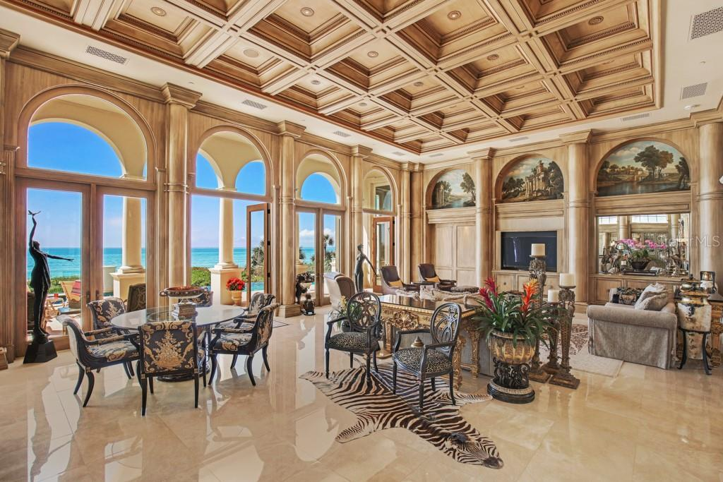 Living room bar - Single Family Home for sale at 845 Longboat Club Rd, Longboat Key, FL 34228 - MLS Number is A4440615