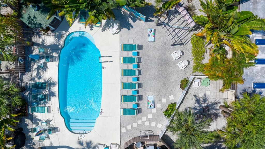 Pool and Patio. - Single Family Home for sale at 523 Beach Rd, Sarasota, FL 34242 - MLS Number is A4446354