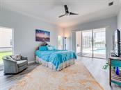 Master Bedroom, with a view of the pool! - Single Family Home for sale at 4117 Via Mirada, Sarasota, FL 34238 - MLS Number is A4438764