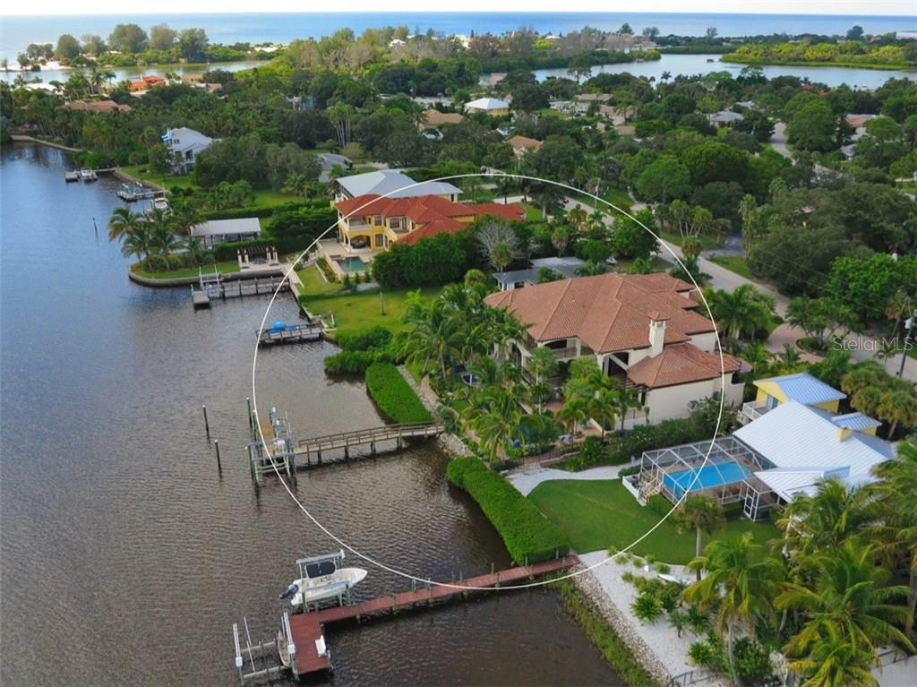 Aerial - Single Family Home for sale at 419 Bayview Pkwy, Nokomis, FL 34275 - MLS Number is N5913189